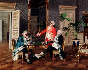 Famous paintings of Card Games: Thoroughly Beaten