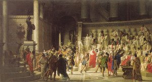 Famous paintings of Statues: The Last Senate of Julius Caesar