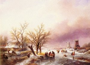 Famous paintings of Ice: A Winter Landscape