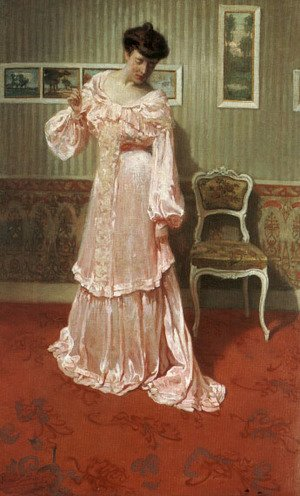A Lady in a Pink Dress