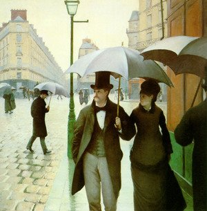 Famous paintings of Parasols and Umbrellas: Paris Street