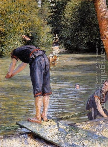 Bathers by Gustave Caillebotte - Reproduction Oil Painting