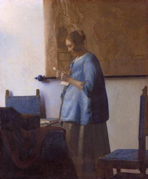 Reproduction oil paintings - Jan Vermeer Van Delft - Woman Reading a Letter