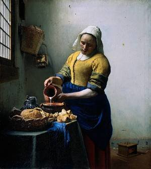 Reproduction oil paintings - Jan Vermeer Van Delft - The Kitchen Maid