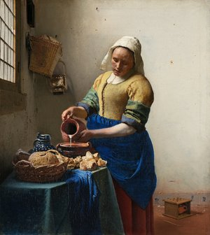 Jan Vermeer Van Delft reproductions - The Milkmaid
