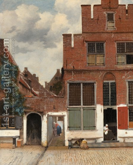 The Little Street (or Het Straatje) by Jan Vermeer Van Delft - Reproduction Oil Painting
