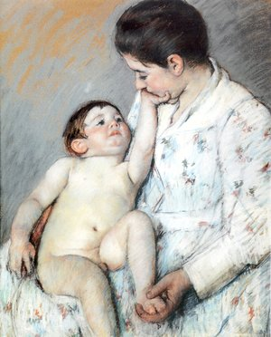 Reproduction oil paintings - Mary Cassatt - Baby's First Caress