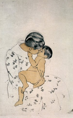 Reproduction oil paintings - Mary Cassatt - Mother's Kiss