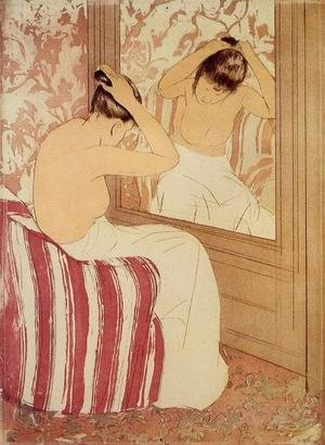 Reproduction oil paintings - Mary Cassatt - The Coiffure (study)