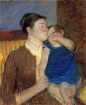 Reproduction oil paintings - Mary Cassatt - Mother's Goodnight Kiss