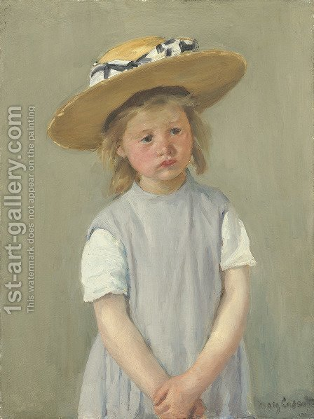Mary Cassatt: Child In A Straw Hat - reproduction oil painting