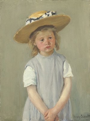 Mary Cassatt reproductions - Child In A Straw Hat