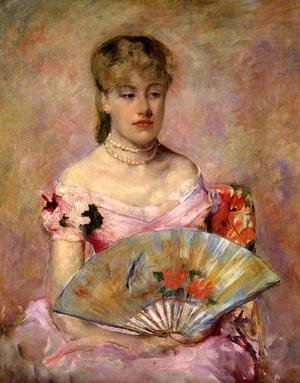 Reproduction oil paintings - Mary Cassatt - Lady with a Fan (or Portrait of Anne Charlotte Gaillard)