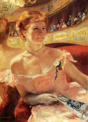 Reproduction oil paintings - Mary Cassatt - Woman With A Pearl Necklace In A Loge