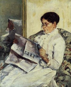 Reproduction oil paintings - Mary Cassatt - Portrait of a Lady (or Reading 'Le Figaro')