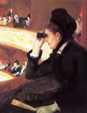 Reproduction oil paintings - Mary Cassatt - At the Francais, a Sketch (or At the Opera)