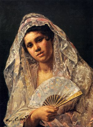 Reproduction oil paintings - Mary Cassatt - Spanish Dancer Wearing A Lace Mantilla