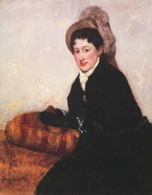 Reproduction oil paintings - Mary Cassatt - Portrait of a Woman Dressed for Matinee