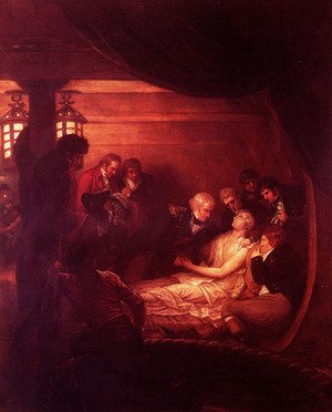 Reproduction oil paintings - Benjamin West - The Death Of Nelson