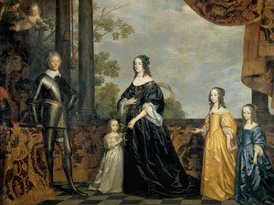 Reproduction oil paintings - Gerrit Van Honthorst - Frederick Henry, Prince of Orange, with His Wife and Daughters