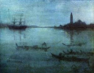 Reproduction oil paintings - James Abbott McNeill Whistler - Nocturne in Blue and Silver: The Lagoon, Venice