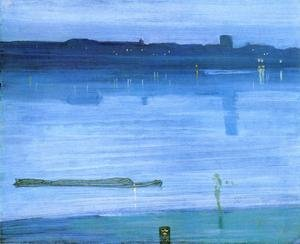 James Abbott McNeill Whistler reproductions - Nocturne: Blue and Silver - Chelsea