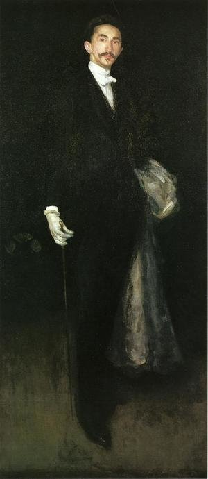 Reproduction oil paintings - James Abbott McNeill Whistler - Arrangement in Black and Gold: Comte Robert de Montesquiou-Fezensac