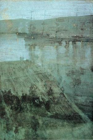 Reproduction oil paintings - James Abbott McNeill Whistler - Nocturne in Blue and Gold: Valparaiso Bay