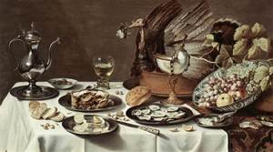 Famous paintings of Desserts: Still Life with Turkey Pie 2