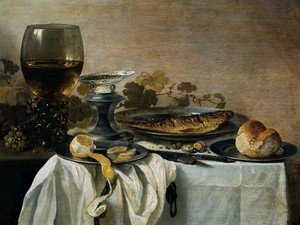 Famous paintings of Fish and Seafood: Still Life with Fish