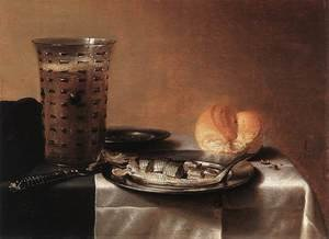 Famous paintings of Fish and Seafood: Still Life with Herring