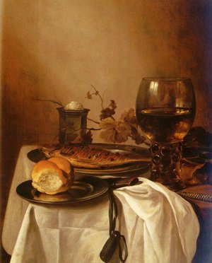 Famous paintings of Fish and Seafood: A Still Life Of A Roamer