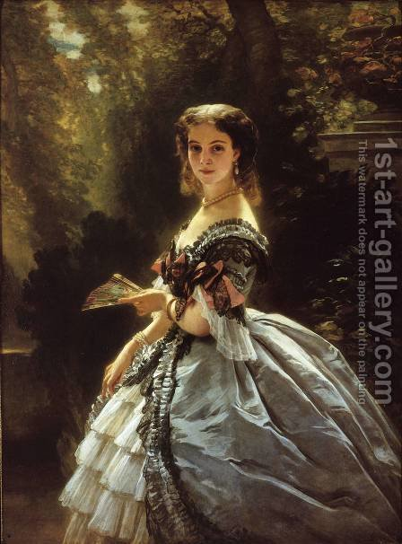 Princess Elizabeth Esperovna Belosselsky-Belosenky, Princess Troubetskoi by Franz Xavier Winterhalter - Reproduction Oil Painting