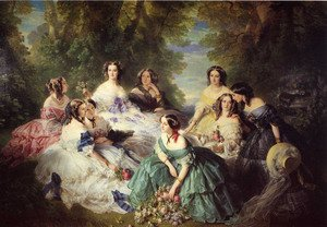 Famous paintings of Trees: The Empress Eugenie Surrounded by her Ladies in Waiting