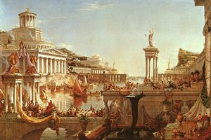 Famous paintings of Fountains: The Course of the Empire: The Consummation