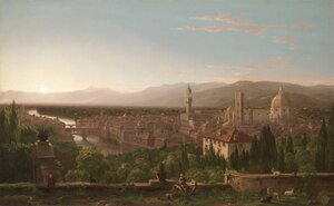 Famous paintings of Trees: View of Florence from San Miniato