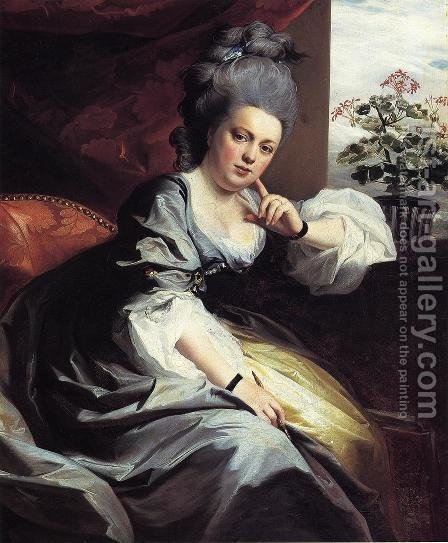 Mrs. Clark Gayton by John Singleton Copley - Reproduction Oil Painting