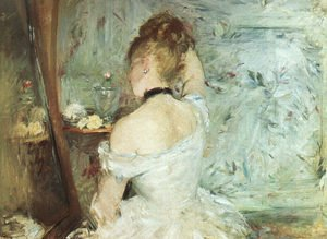 Berthe Morisot reproductions - A Woman at her Toilette