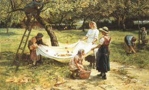 Famous paintings of Apples: An Apple-gathering