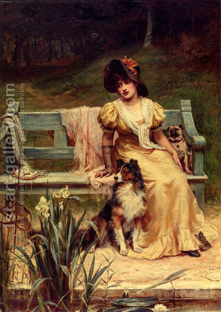 Where Could He Be? by Frederick Morgan - Reproduction Oil Painting