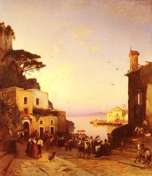 Reproduction oil paintings - Hermann David Solomon Corrodi - Processione A Sorrento (Procession to Sorrento)