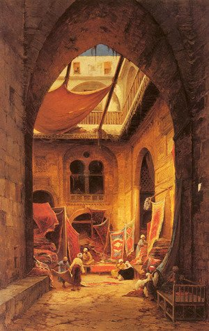 Hermann David Solomon Corrodi reproductions - Arab Carpet Merchants