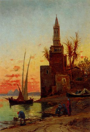 Reproduction oil paintings - Hermann David Solomon Corrodi - Sunset On The Nile