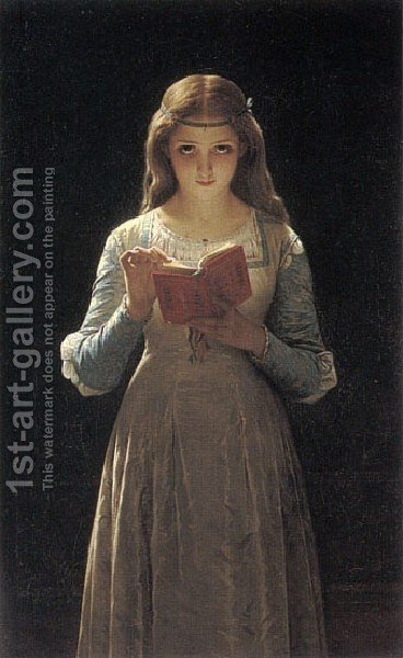 Pause for Thought (or Ophelia) by Pierre Auguste Cot - Reproduction Oil Painting