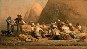 Reproduction oil paintings - Jean-Francois Millet - Harvesters Resting (or Ruth and Boaz)