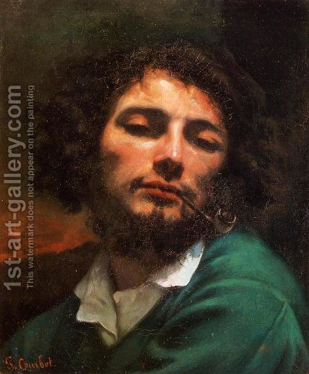 Portrait of the Artist (or Man with a Pipe) by Gustave Courbet - Reproduction Oil Painting