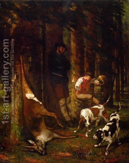 The Quarry by Gustave Courbet - Reproduction Oil Painting