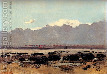 Seascape Near Trouville by Gustave Courbet - Reproduction Oil Painting