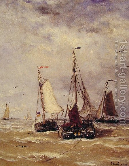 Preparations for Departure by Hendrik Willem Mesdag - Reproduction Oil Painting