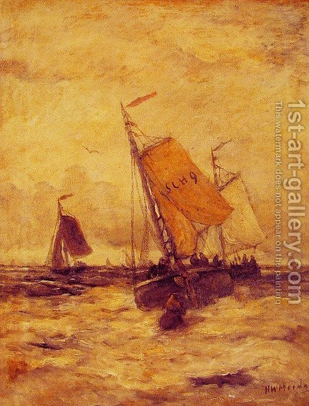 On a Stormy Sea by Hendrik Willem Mesdag - Reproduction Oil Painting
